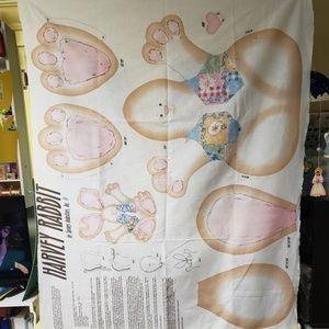 Fabric Sewing Panel - Harvey Rabbit